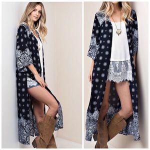 Sweaters - LAST ONE  Duster Long Maxi Cardigan Kimono